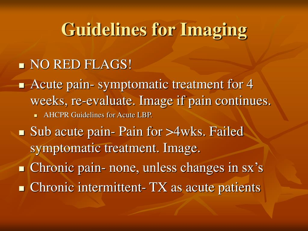 Guidelines for Imaging