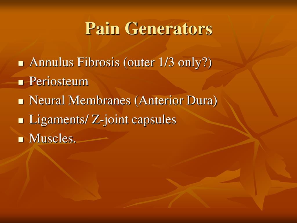 Pain Generators