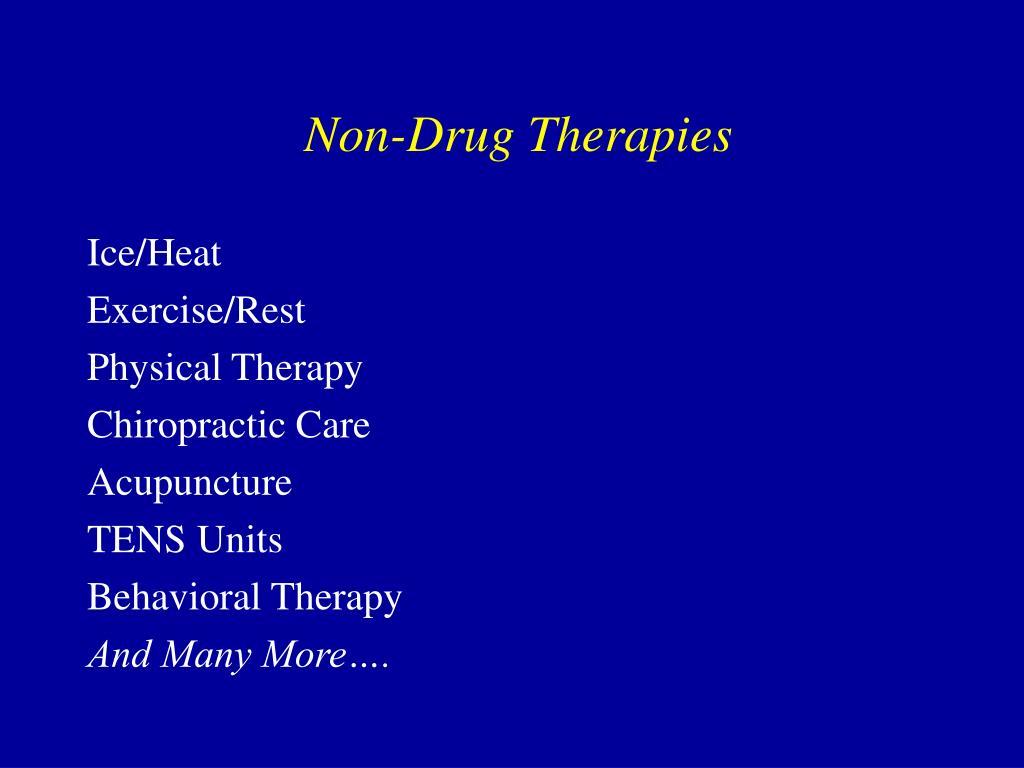 Non-Drug Therapies