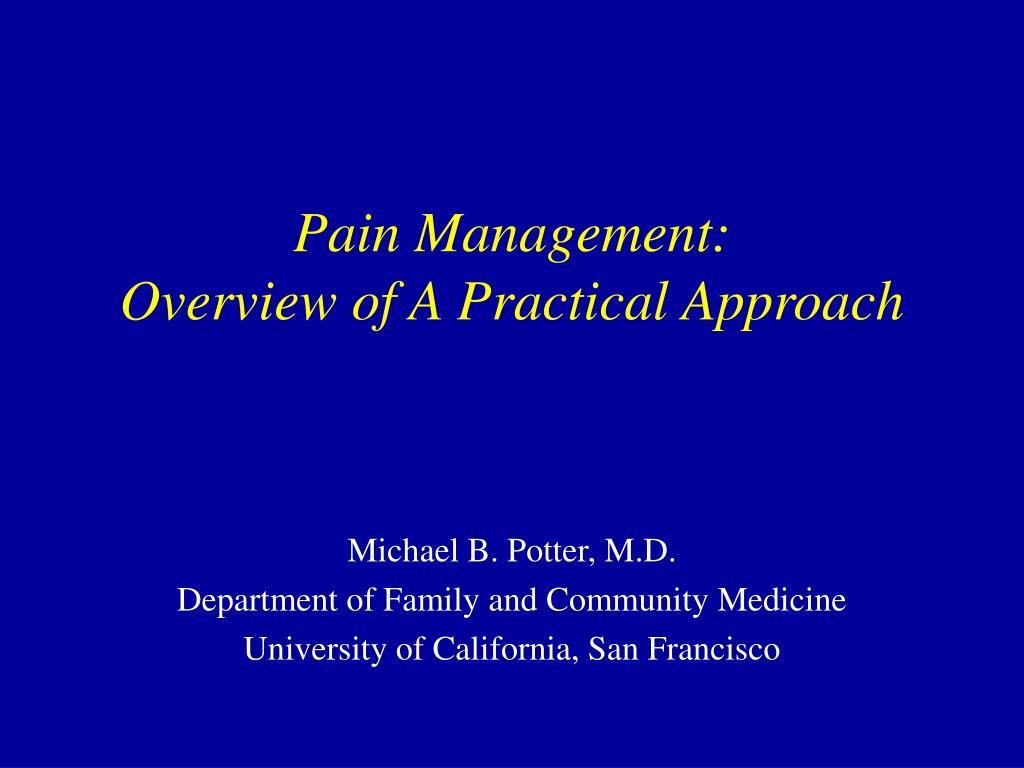 Pain Management: