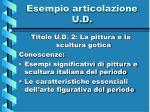 esempio articolazione u d