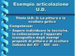 esempio articolazione u d1