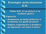 esempio articolazione u d2