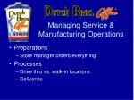 managing service manufacturing operations