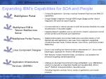 expanding ibm s capabilities for soa and people
