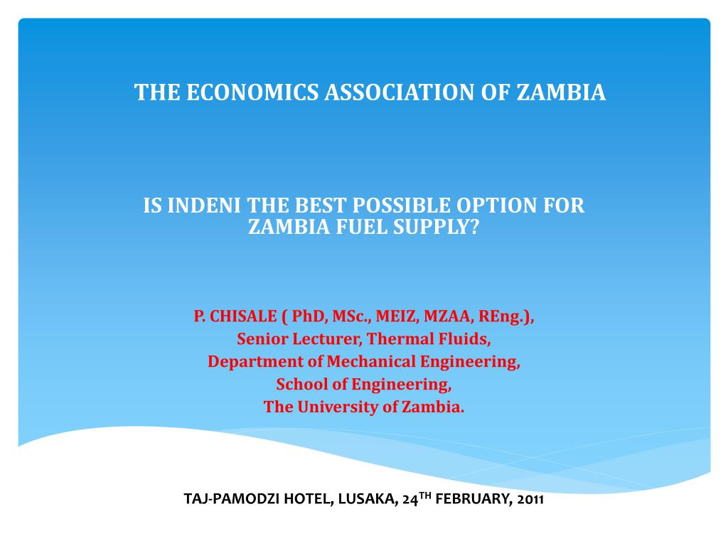 the economics association of zambia l.