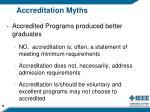 accreditation myths
