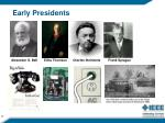 early presidents