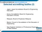 selected accrediting bodies 2