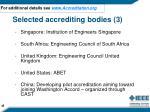 selected accrediting bodies 3