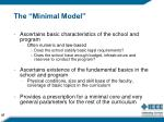 the minimal model