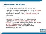 three major activities