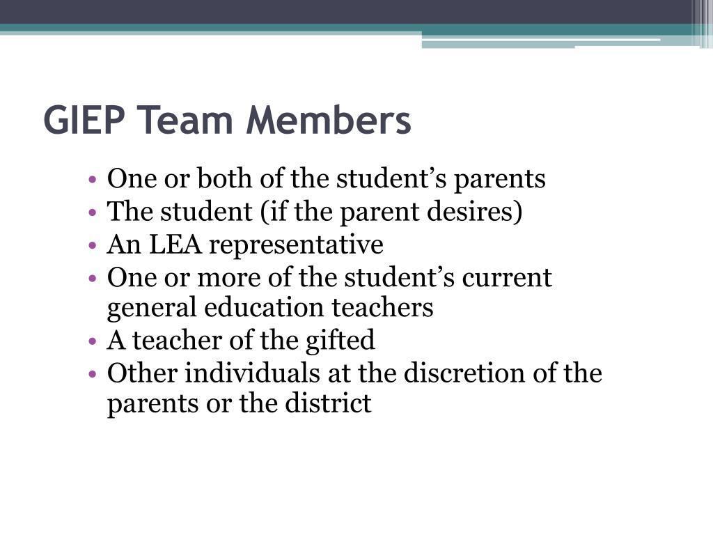 GIEP Team Members