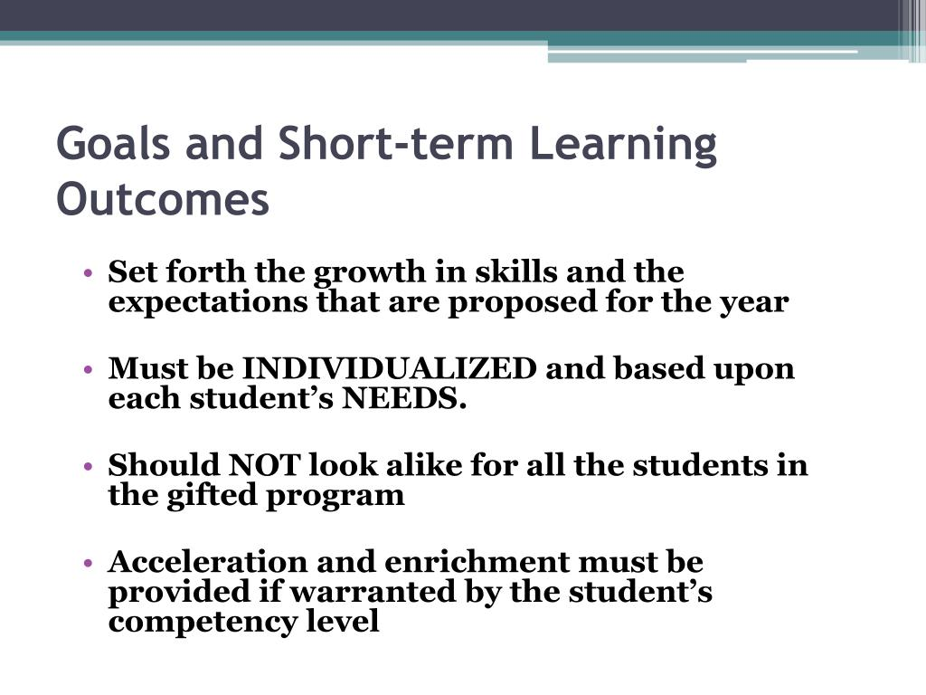 Goals and Short-term Learning Outcomes