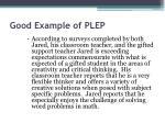 good example of plep19