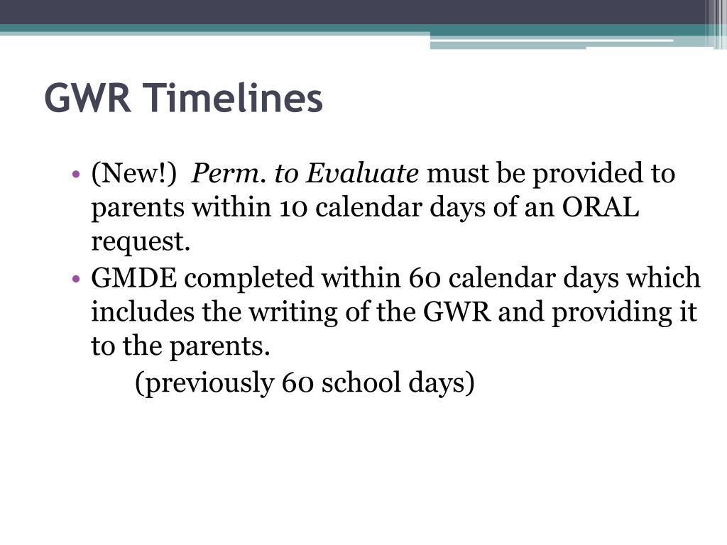 GWR Timelines