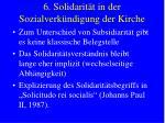 6 solidarit t in der sozialverk ndigung der kirche