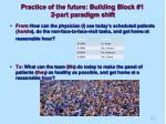 practice of the future building block 1 2 part paradigm shift
