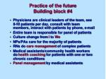practice of the future building block 426