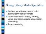 strong library media specialists