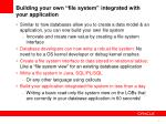 building your own file system integrated with your application