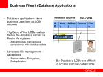 business files in database applications