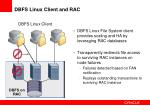 dbfs linux client and rac