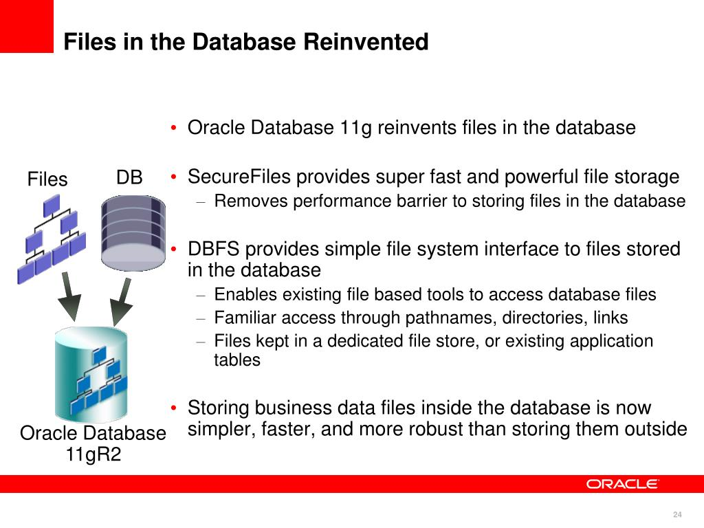 PPT - Oracle Database 11g SecureFiles and Database File System (DBFS