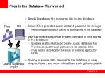 files in the database reinvented