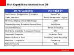 rich capabilities inherited from db