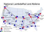 national lambdarail and abilene