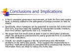conclusions and implications