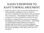 nagel s response to kant s moral argument
