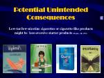potential unintended consequences