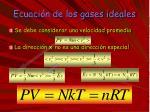 ecuaci n de los gases ideales