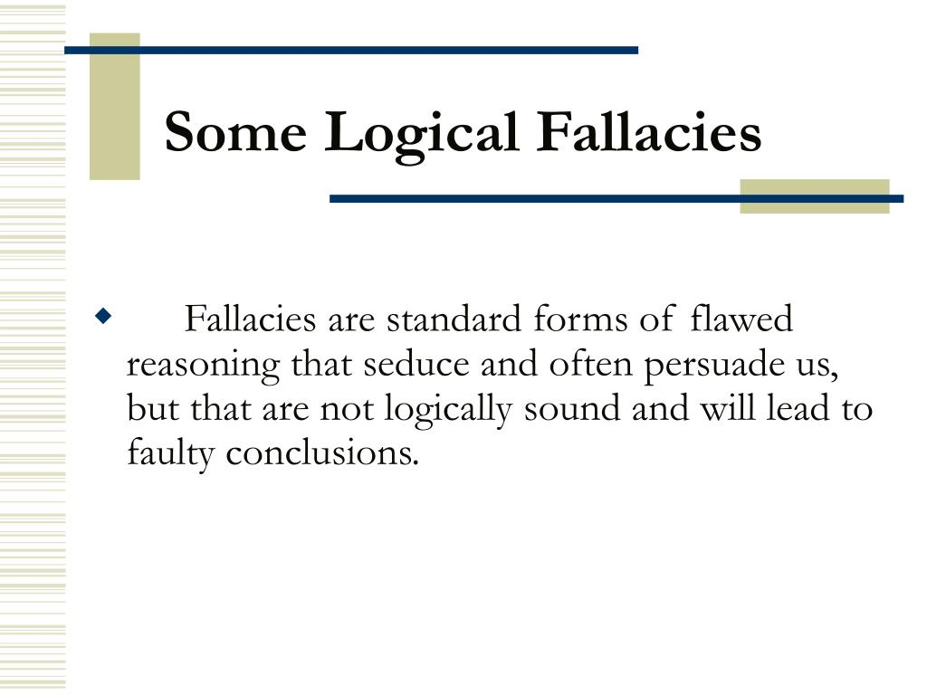 some logical fallacies l.