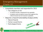 emergency management chapter 12