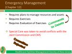 emergency management chapter 121