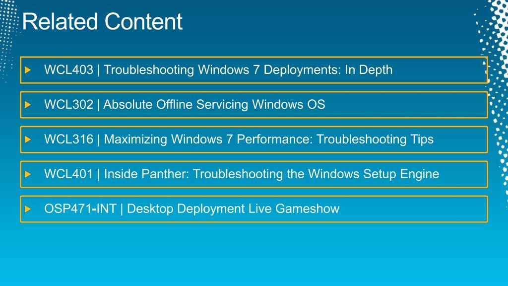 PPT - Troubleshooting Windows Deployment with Microsoft Deployment