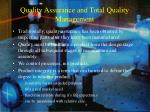 quality assurance and total quality management