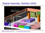 module assembly facilities vdg