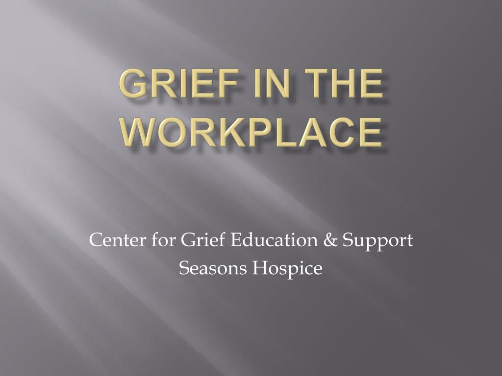 grief in the workplace l.