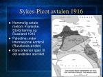 sykes picot avtalen 1916