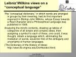 leibniz wilkins views on a conceptual language