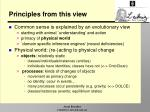 principles from this view