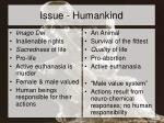 issue humankind