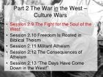 part 2 the war in the west culture wars