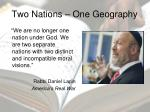 two nations one geography