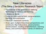 new literacies the new literacies research team