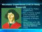 nicolaus copernicus 1473 1543 kopernik